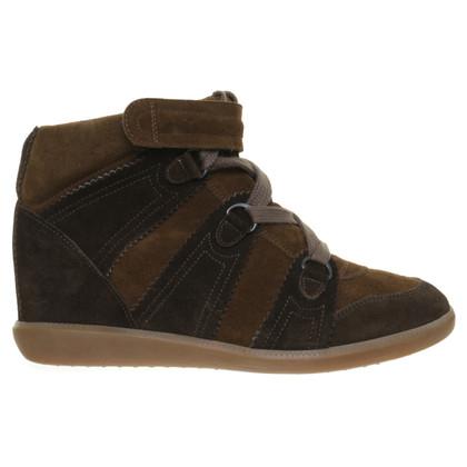 Isabel Marant Sneaker-Wedges in olijfolie