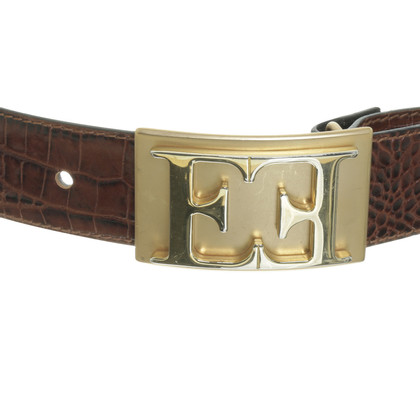 Escada Belts in crocodile look