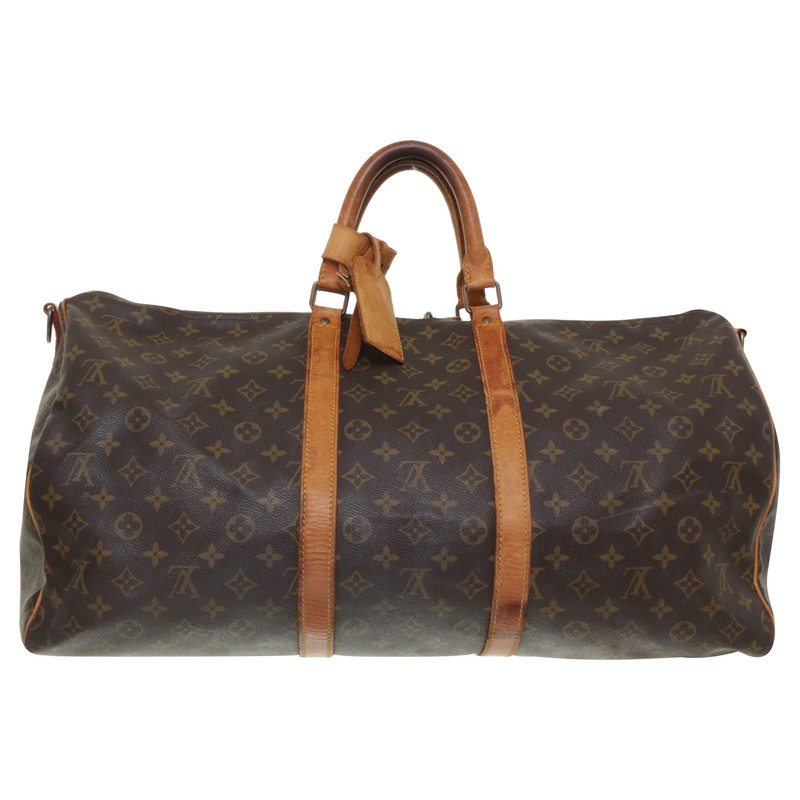 louis vuitton keepall 55 mit monogram second hand louis vuitton keepall 55 mit monogram. Black Bedroom Furniture Sets. Home Design Ideas