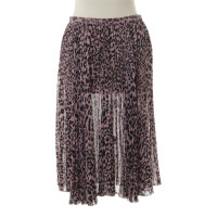 Blumarine Pleated skirt with Leo pattern