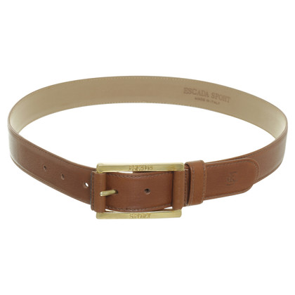 Escada Leather belt with gold buckle