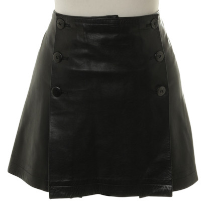 Agnès B. Short skirt made of leather
