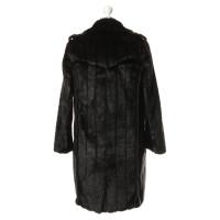 Lanvin for H&M Art fur coat in Brown