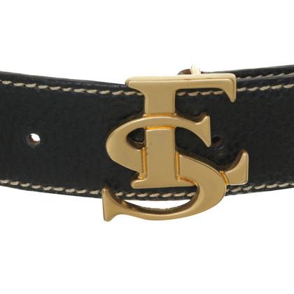 Escada Black belt with logo buckle