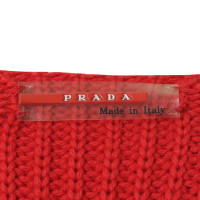 Prada Wool Sweater in red