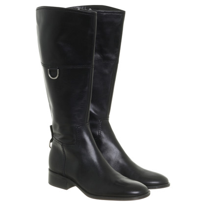 Aigner Smooth leather boots in black