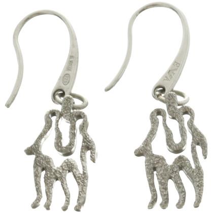 Armani Silver earrings with twin trailer