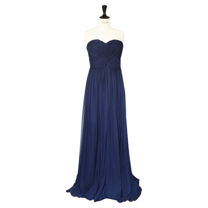 Tibi Blaues Seidenkleid