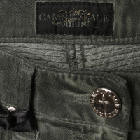Camouflage Couture Jeans with quilted details