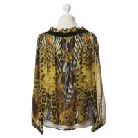 Roberto Cavalli Silk blouse with button