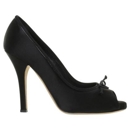 Dolce & Gabbana Peep-toes in black velvet