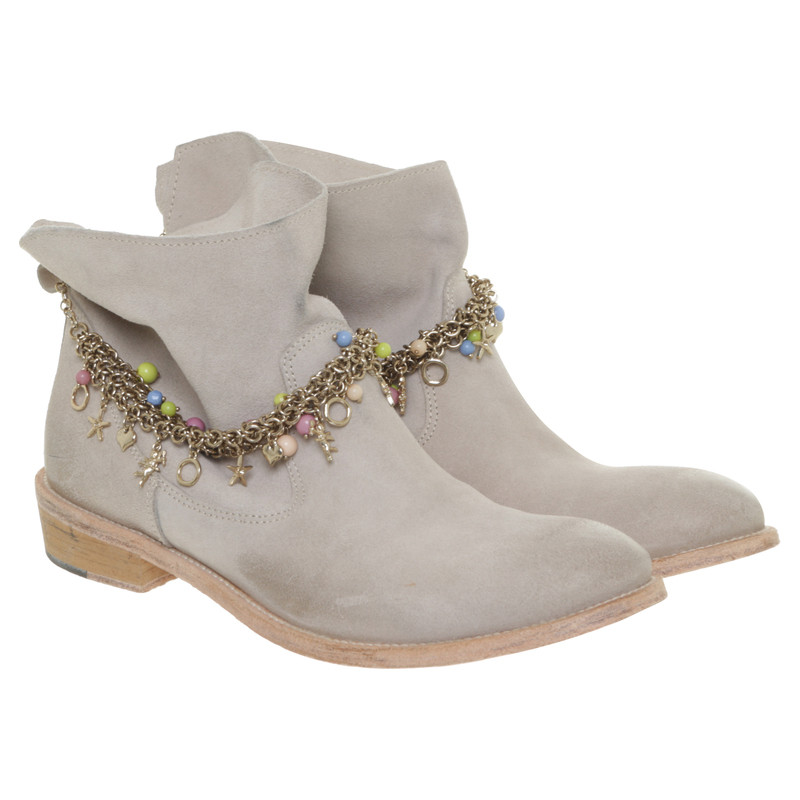 Patrizia Pepe Ankle boots with jewelry chain