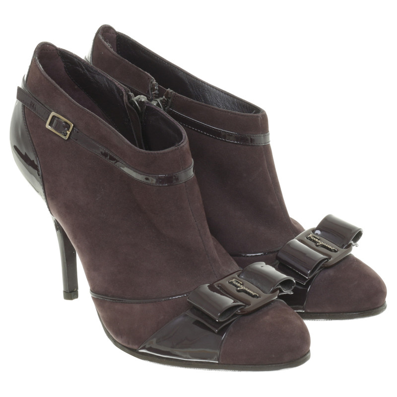 Salvatore Ferragamo Ankle boots with patent details