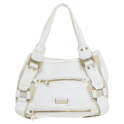 Jimmy Choo Handtasche in Off-White