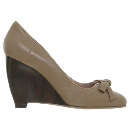 Hugo Boss Wedge mit Holz-Keil