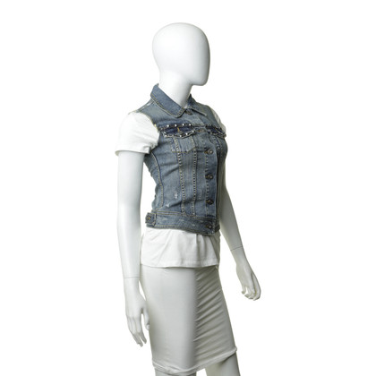 Blaumax Gilet in denim con rivetti