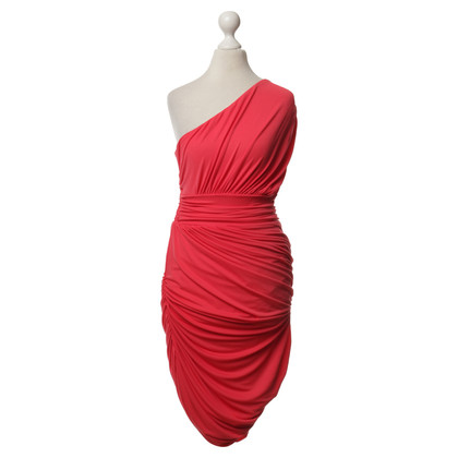 Halston Heritage One-shoulder dress in red