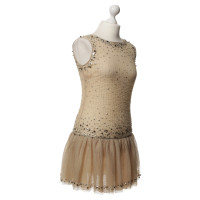 Red Valentino Tulle dress with beaded trim