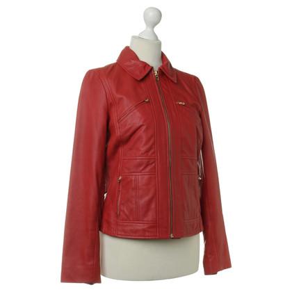 Ralph Lauren Giacca in pelle nel colore rosso