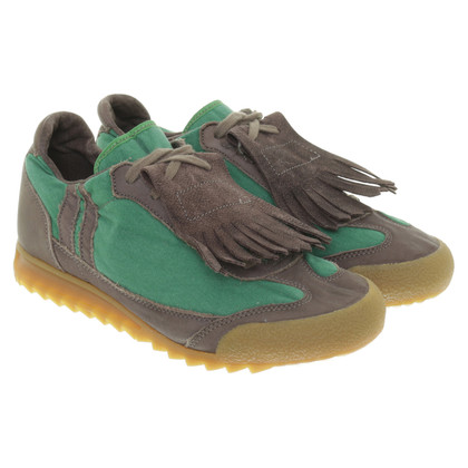 Marni Sneaker con nappine in verde-marrone