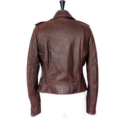 Balenciaga Burgundy leather jacket