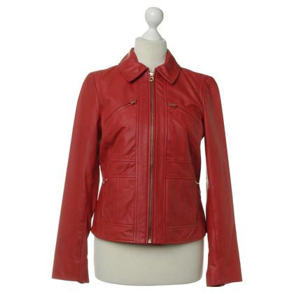 Ralph Lauren Leather jacket in red