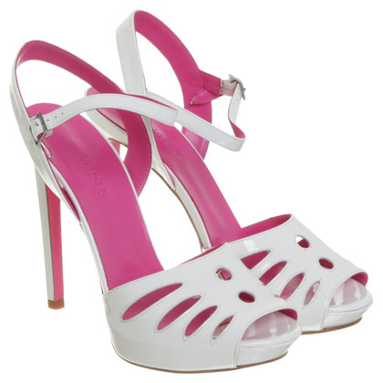 "Gianni Versace High heel sandal ""Versus"" in white"