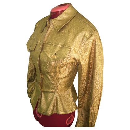 Jean Paul Gaultier Goud metallic jas