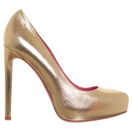 Gianni Versace Pumps in bronze color