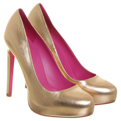 Gianni Versace pumps in colore bronzo