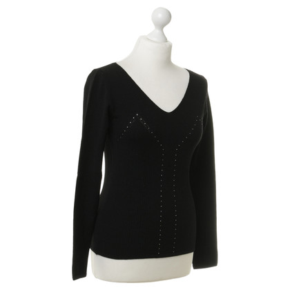 Aigner Sweater with decorative stone trim