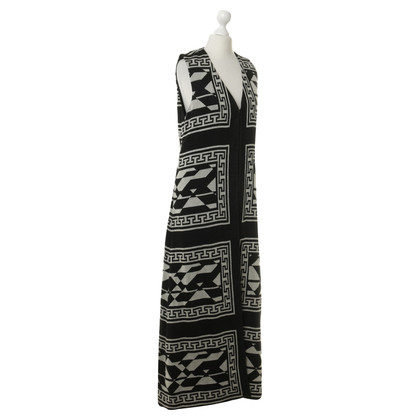 Alice + Olivia Long vest with pattern