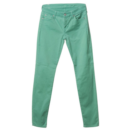 7 For All Mankind Jeans in verde brillante