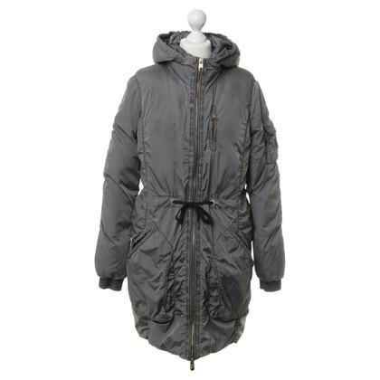 Closed Giù cappotto grigio