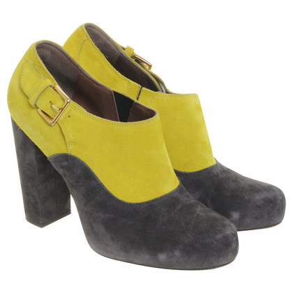 Marni Ankle boots in yellow and dark grey