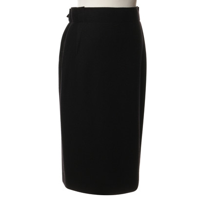 Lanvin Wool skirt in black
