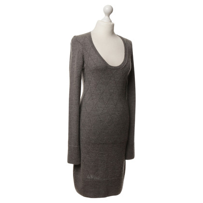 Balenciaga Strickkleid in Grau