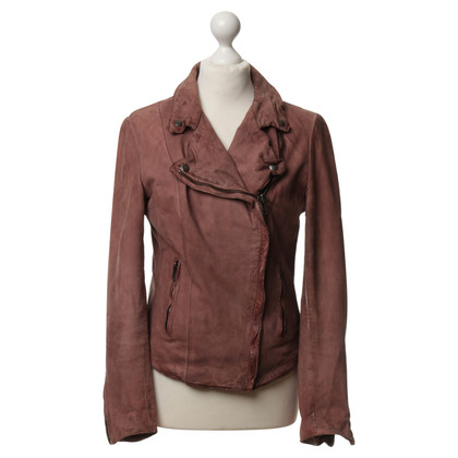 Muubaa Leather jacket in dusty pink