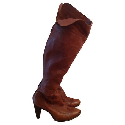 Costume National Braune Overkneestiefel