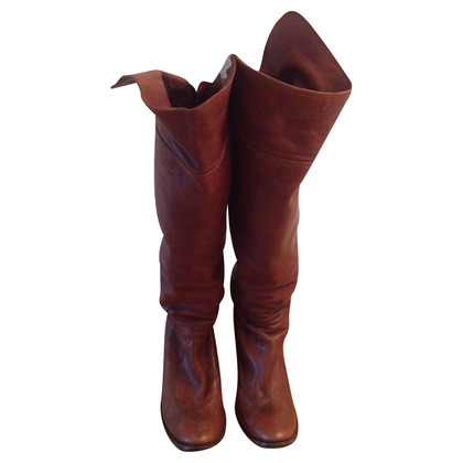 Costume National Overkneestiefel marrone