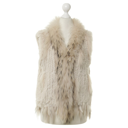 Oakwood Fur vest in cream