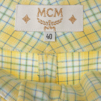MCM Checkered pants in yellow
