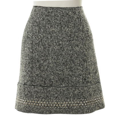 Miu Miu Tweed skirt with studs trim