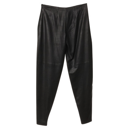 Costume National Leather pants in black