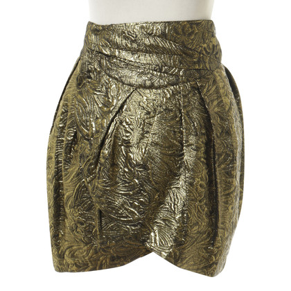 Isabel Marant Gonna in oro metallico
