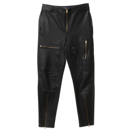 Closed Leather pants in black