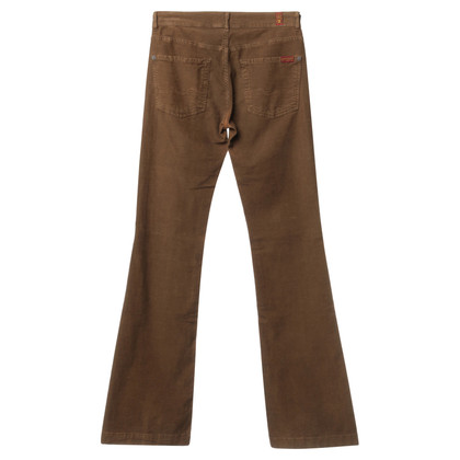 7 For All Mankind Pantaloni di velluto marrone