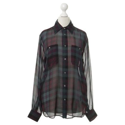 Polo Ralph Lauren Silk blouse with plaid pattern