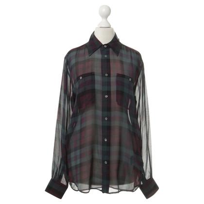 Polo Ralph Lauren Zijden blouse met geruite patroon