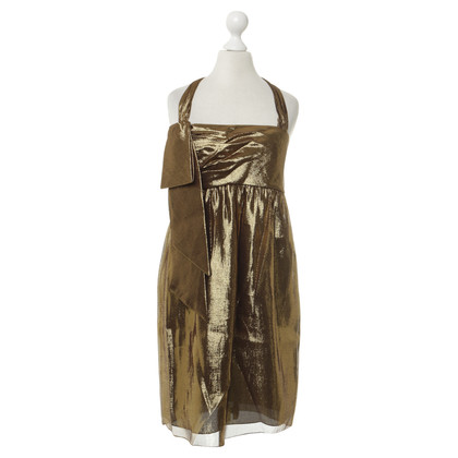 Vera Wang Kleid im Metallic-Look